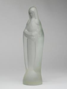 Steph Uiterwaal, Pressed glass sculpture of Saint Therese, designed in 1932, executed by Glass Factory Leerdam - Steph Uiterwaal