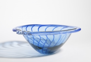 Willem Heesen, Blue glass plate, 1991 - Willem Heesen