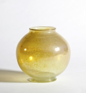Chris Lanooy, Unique glass vase with golden luster, Glass Factory Leerdam, 1926 - Chris (C.J.) Lanooy
