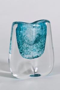 A.D. Copier, Unique thick glass vase, Leerdam, 1958 - Andries Dirk (A.D.) Copier