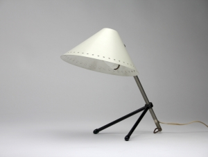 H. Busquet for Hala Zeist, White Pinocchio lamp, 1950s - H. Th. J. A. Busquet