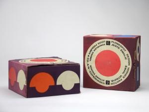 Verner Panton, Twee Flowerpot lampen in originele doos, uitvoering Louis Poulsen, ontwerp 1969 - Verner Panton