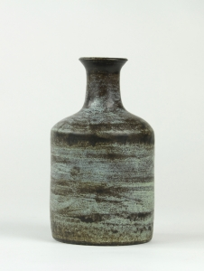 Jan van der Vaart, Ceramic vase with blue and brown glaze, 1960 - Jan van der Vaart