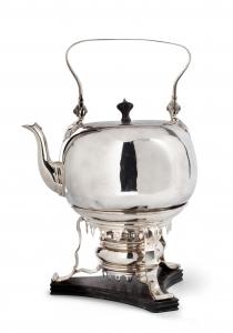 Zilveren bouilloire