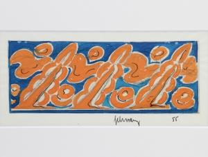 Mommie Schwarz, Schets nr. 55, waterverf, potlood en inkt op papier, jaren '20 - Mommie (S.L.) Schwarz