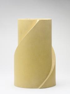 Jan van der Vaart, Gele keramische vaas, multipel, Makkum, 1999 - Jan van der Vaart