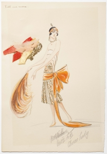 Charles LeMaire, Original Art Deco costume designs for George Gershwins Broadway musical 'Tell me More', 1920s - Charles LeMaire
