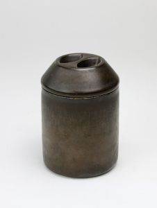 Jan van der Vaart, Bronze glazed lidded pot, multiple, 1972 - Jan van der Vaart
