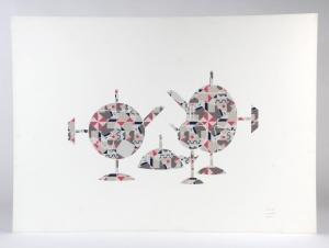 Alessandro Mendini voor Officina Alessi, Litho, 'Tea and Coffee Piazza', 1983 - Allesandro Mendini