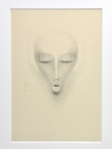 Bernard Richters, Litho of a face, 1920s - Bernard (B.J.) Richters