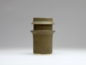 Jan van der Vaart, grey and green glazed stoneware with double collar, 1961 - Jan van der Vaart