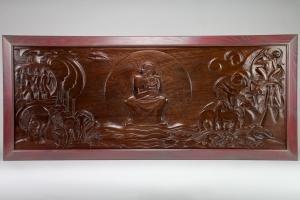 Hildo Krop, Mahogany wall panel, 1926 - Hildo (H.L.) Krop