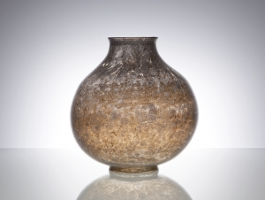 Chris Lanooy, Unique grey vase with metallic glaze, Glass Factory Leerdam, 1927 - Chris (C.J.) Lanooy