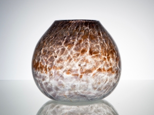 Chris Lanooy, Unique glass vase with orange decoration, Glass Factory Leerdam, ca. 1928 - Chris (C.J.) Lanooy
