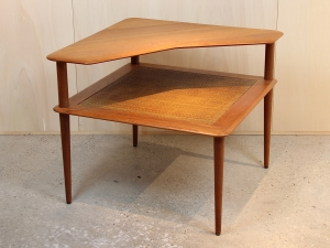 Peter Hvidt and Orla Mølgaard-Nielsen, Teak side table 'Minerva', France & Son, 1950s - Peter Hvidt