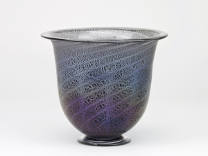 A.D. Copier, Unique vase with antimony crackle, Glass Factory Leerdam, ca. 1927 - Andries Dirk (A.D.) Copier
