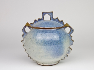 Harriet de Maar-Sielcken, Blue lidded pot, ca. 1989 - Harriet Sielcken