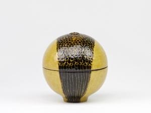 Hans de Jong, Ronde keramische dekseldoos, 1972 - Hans de Jong