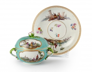 Meissen tureen with saucer
