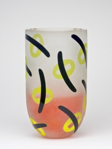 Olaf Stevens for Glass Factory Leerdam, Unique vase, executed by Arie van Loopik, 1993 - Olaf Stevens