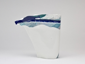 Henk Wolvers, Porcelain vase, 1988 - Henk Wolvers