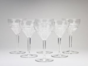 W.J. Rozendaal for Kristalunie Maastricht, Six 'Spectrum' wine glasses, 1928 - Willem Jacob (W.J.) Rozendaal