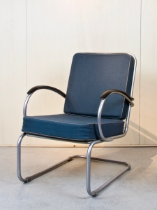 W.H. Gispen, Cantilever lounge chair, model 409, designed 1933, executed 1976 - Willem Hendrik (W.H.) Gispen
