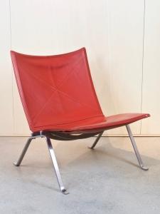 Poul Kjaerholm for E. Kold Christensen, Red leather chair, PK22, 1956 - Poul Kjaerholm