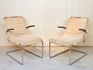 W.H. Gispen, Two armchairs, no. 411, 1934 - Willem Hendrik (W.H.) Gispen