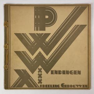 Wendingen, Afdelingen gebouwen van publieke werken Amsterdam, omslagontwerp P.L. Marnette, 1927, nummer 11 - P.L. Marnette