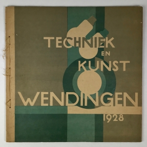Wendingen, Technique and art, cover design W.H. Gispen, 1928, edition 2 - Willem Hendrik (W.H.) Gispen
