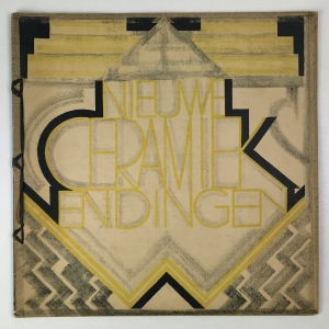 Wendingen, New ceramics, cover design Tine Baanders, 1927, edition 12, - Tine Baanders