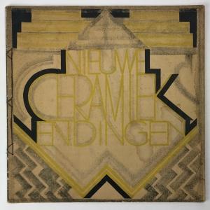 Wendingen, Nieuwe ceramiek, omslagontwerp Tine Baanders, 1927, nummer 12 - Tine Baanders