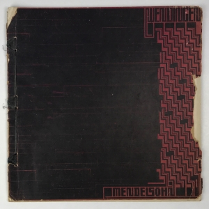 Wendingen, Erich Mendelsohn, omslagontwerp Hendrik Wijdeveld, 1920, nummer 10 - Hendrik Wijdeveld