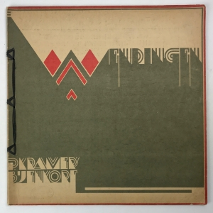 Wendingen, P. Kramers Bijenkorf, cover design Julius Luthmann, 1925, edition 11-12 - Julius Luthmann