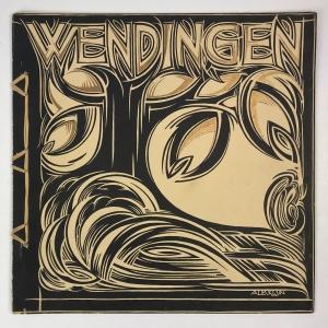 Wendingen, Middenstandswoningbouw in het uitbreidingsplan 'Zuid' te Amsterdam, omslagontwerp Albert Klijn, 1923, nummer 4 - Albert Klijn