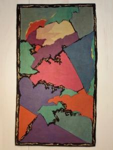 J.F. Semey voor Pander, Wandkleed met abstract motief, circa 1935 - Fer Semey