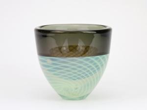 Willem Heesen, Unieke vaas met spiraalvormige decoratie, 1984 - Willem Heesen