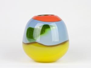 Misha Ignis, Unique colourful vase, 1987 - Misha Ignis