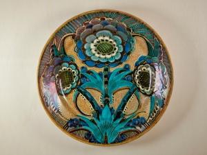 Leon Senf for De Porceleyne Fles, Wall plate with lustre glaze, 1929 - Leon (L.J.) Senf