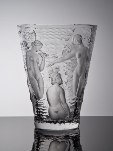 Marc Lalique, Vaas 'Ondines', ontwerp 1952, uitvoering Lalique Crystal France ca. 1960 - Marc Lalique