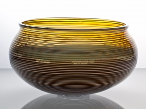 A.D. Copier, Unique glass bowl, executed by Lino Tagliapietra and Bernard Heesen, Studio De Oude Horn, 1990 - Andries Dirk (A.D.) Copier