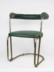 Bas van Pelt, Chromed tubular steel chair with green skai upholstery, My Home Woninginrichting, The Hague, 1930s - Bas van Pelt