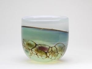 Willem Heesen, Unique 'Waterside' vase, executed by studio De Oude Horn, 1983 - Willem Heesen