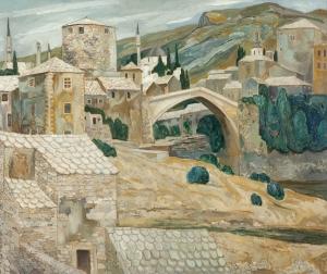 The Bridge in Mostar - 'Dirk' Herman Willem Filarski