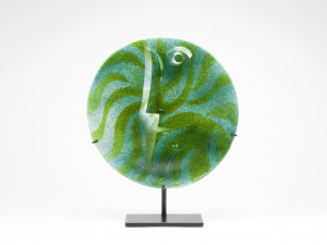 Willem Heesen, Unique glass disc, 'How green is my valley', De Oude Horn, 2002 - Willem Heesen