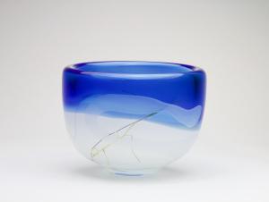 Willem Heesen, 'Beach', Unieke glazen schaal uit serie 'Out of Africa', De Oude Horn, 1995 - Willem Heesen