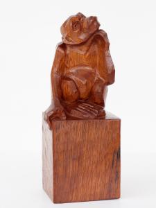 Anton Fortuin, Mahogany sculpture of a Chimpanzee, 1920s - Anton Fortuin