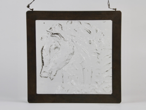 Willem Heesen, Glass tile with a horse head, 1955 - Willem Heesen
