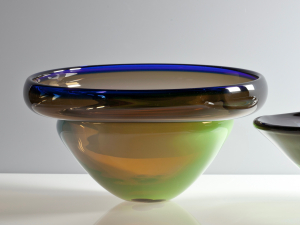 Willem Heesen, Unique 'Waterkant' bowl, executed at 'De Oude Horn', 1988 - Willem Heesen